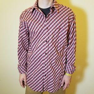 Sean Jean plaid, button-down, long-sleeve shirt XL